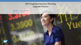 SAP Integrated Business Planning Upgrade Process