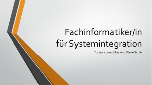Fachinformatiker/in Systemintegration