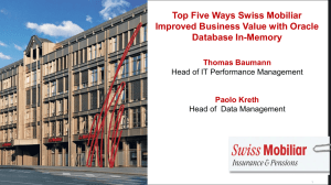 Top Five Ways Swiss Mobiliar Improved Business