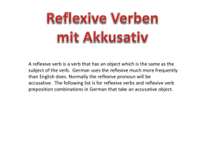Reflexive Verbs used with the accusative