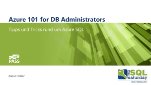 Azure 101 for DB Administrators