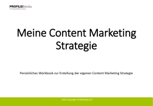 Meine Content Marketing Strategie