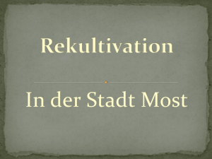 Die Rekultivation