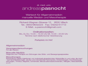Mesotherapie - Dr. Andreas Pasnocht