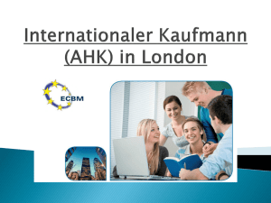 Internationaler Kaufmann (DAHK) in London