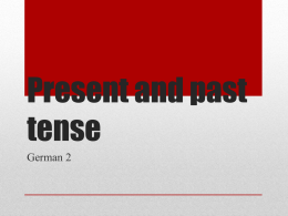 Present and past tense Review