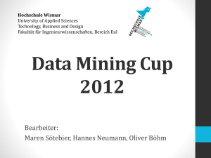 Data Mining Cup 2012