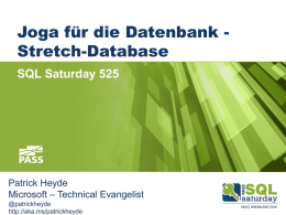 Joga für die Datenbank - Stretch-Database