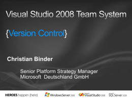 Die Visual Studio Team System Konferenz