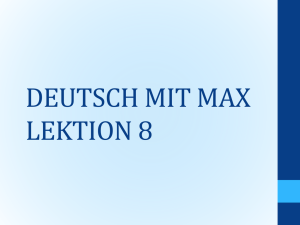 deutsch mit max lektion 8