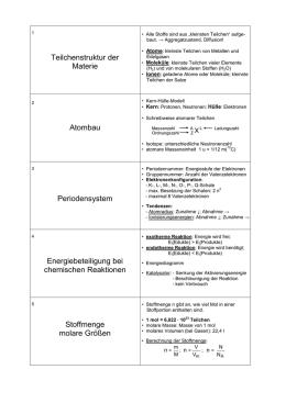 Allgemeine Chemie (für Biologie und Ernährungslehre)