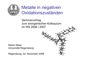 Metalle in negativen Oxidationszuständen