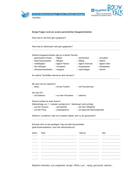 Essgewohnheiten - Materialien für 5.-10. Klassen