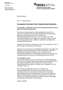 Mediendienst - Inselspital