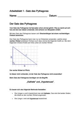 2.1 Pythagoras im Gedicht Möglicherweise veranlassten die