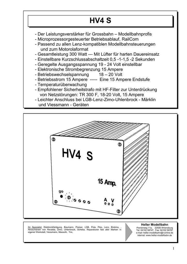 HV4S - Heller Modellbahn
