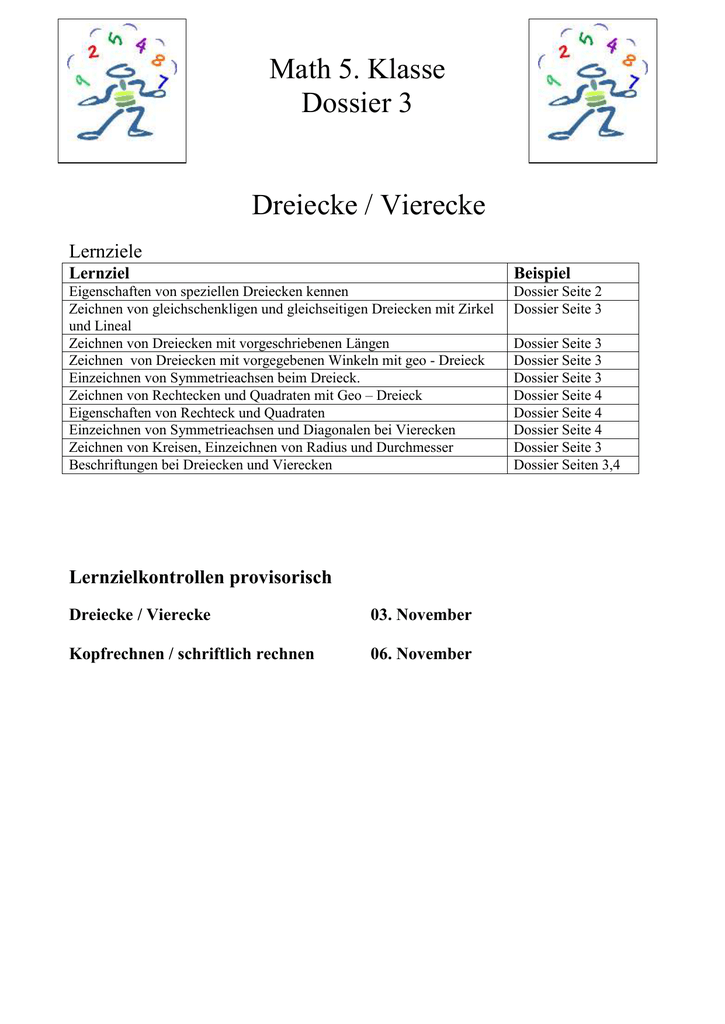 Schön Eigenschaften Von Vierecken Arbeitsblatt Bilder - Super Lehrer ...