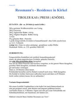 Tiroler Kas(press) - Ressmanns Residence