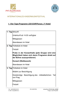 INTERNATIONALES KINDERMUSIKFESTIVAL 1. Vier