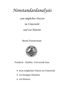 Nonstandardanalysis - Friedrich-Schiller