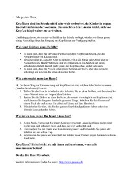 Beispielbrief an Eltern, wenn Läuse entdeckt wurden