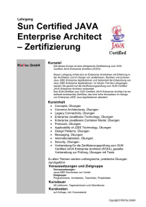 SUN Certified JAVA Architect