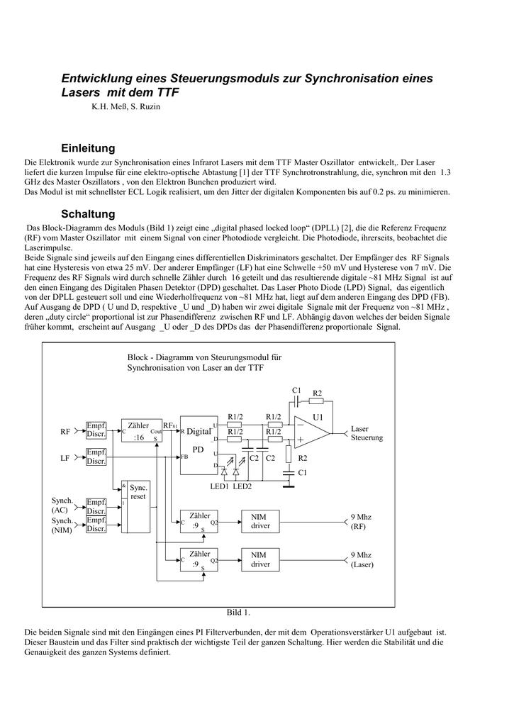 Entwicklung vom Steuerungsmodul für Synchronisation von Laser