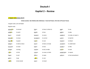 Deutsch I Kapitel 2 – Review