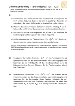 Differentialrechnung I (Kapitel 12