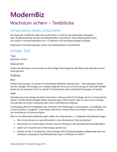 Wachstum sichern – Textblöcke - Smart Partner Marketing