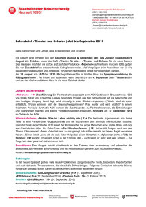 Lehrerbrief Juli/August/September 2016