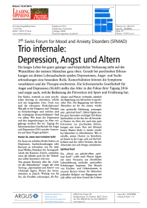 Trio infernale: Depression, Angst und Altern