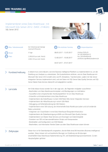 Implementieren eines Data Warehouse mit Microsoft SQL Server 2012