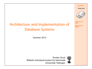 Architecture and Implementation of Database Systems