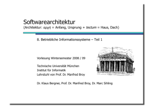 Softwarearchitektur - Software and Systems Engineering