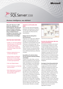 MS SQL Server - Business Intelligence
