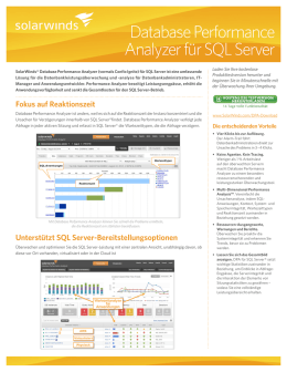 Database Performance Analyzer für SQL Server
