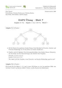 DAP2¨Ubung – Blatt 7 - Chair 11: ALGORITHM ENGINEERING