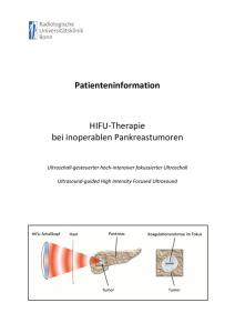 Patienteninformation HIFU-‐Therapie bei inoperablen