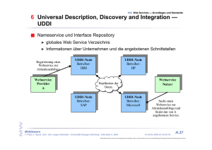 6 Universal Description, Discovery and Integration — UDDI