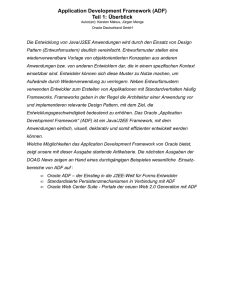 Application Development Framework (ADF) Teil 1: Überblick