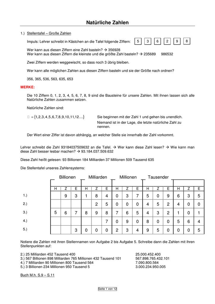Natürliche Zahlen - robert
