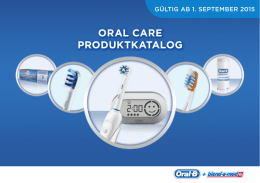 Oral CarE PrODUKTKaTalOG