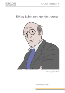 Niklas Luhmann, gender, queer