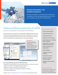 Data Quality Components for SSIS Product Sheet