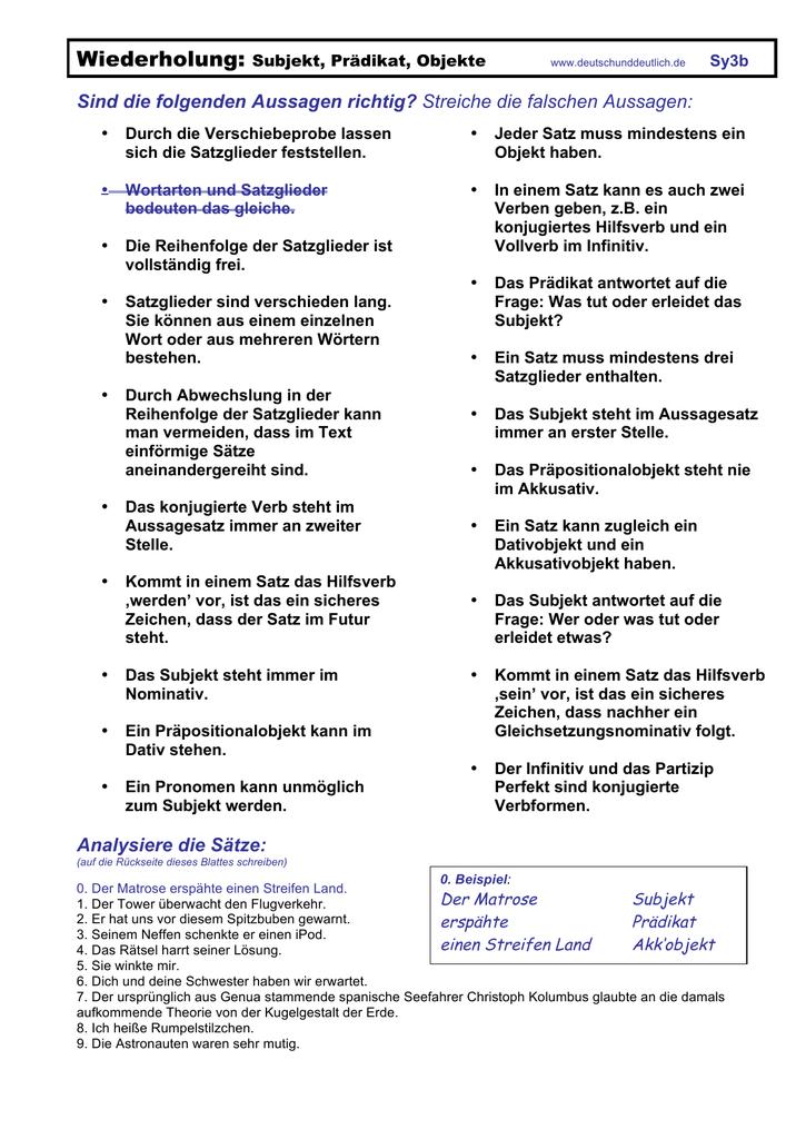 Magnificent Unterziehen Und Pronomen Arbeitsblatt Objekt Image ...