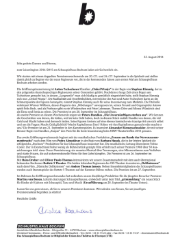 Pressebrief September 2014 zum