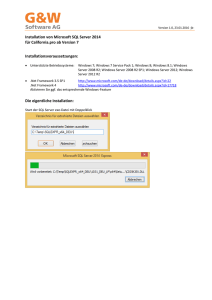 Installationsanleitung SQL-Server 2014 für California.pro