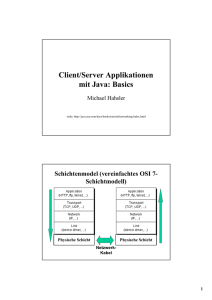 Client/Server Applikationen mit Java: Basics