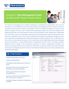 Provance® Data Management Pack für Microsoft® System Center